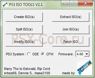PS3 ISO Tools v2 01 - Для ПК - PS3 Soft - PSX Софт - PSX